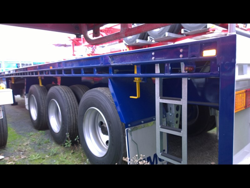 cimc flat deck semi trailer 343611 004