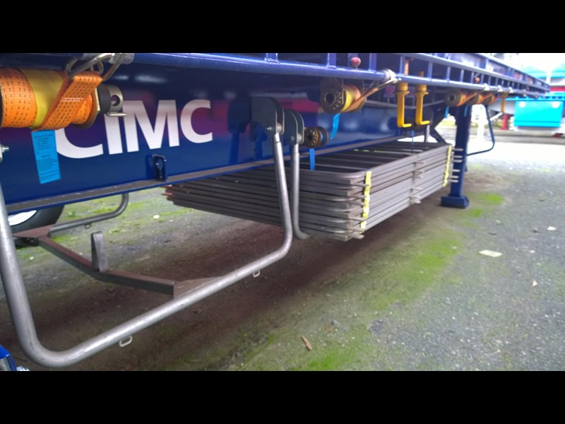 cimc flat deck semi trailer 343611 005