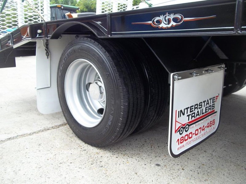 interstate trailers heavy duty 9 ton base line design tag trailers - suit skid steer loaders [attttrail] 344439 010