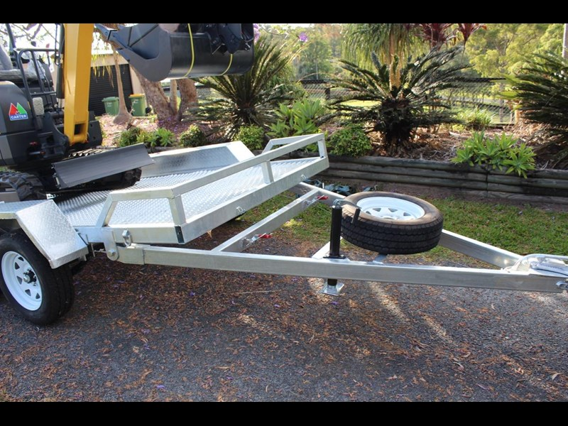 carter yanmar powered zero swing with plant trailer 349558 013