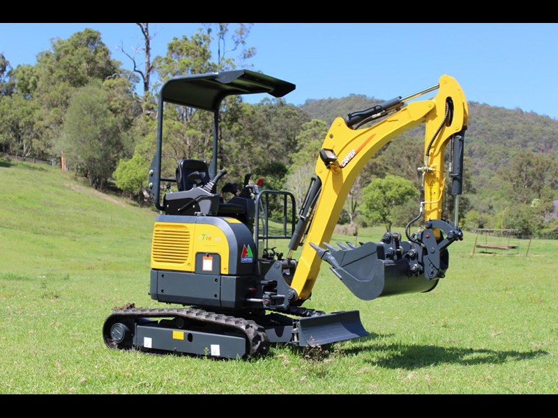 carter ct16 yanmar powered mini excavator zero swing 349469 003