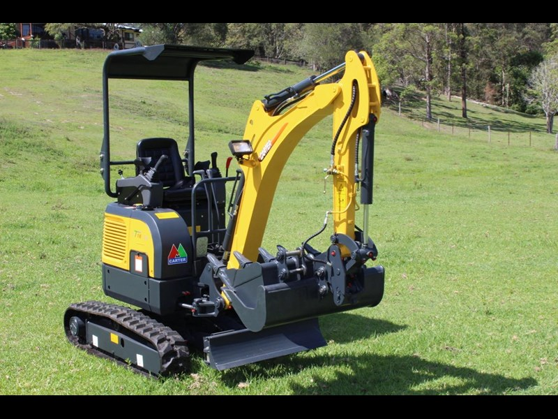 carter ct16 yanmar powered mini excavator zero swing 349469 005