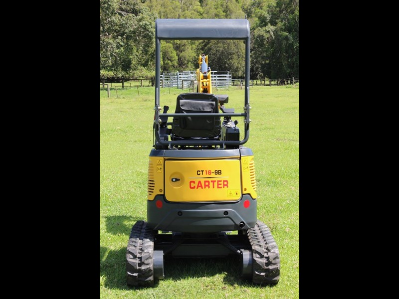 carter yanmar powered zero swing with plant trailer 349558 029