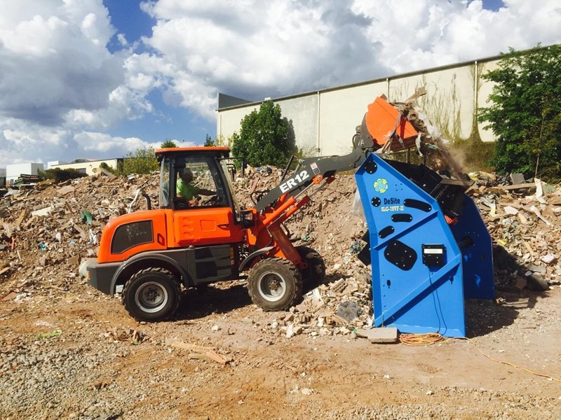 everun er12 wheel loader with 2 buckets and forks 349636 047