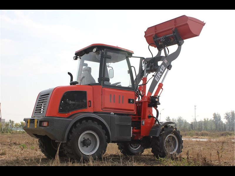 everun er12 wheel loader with 2 buckets and forks 349636 037