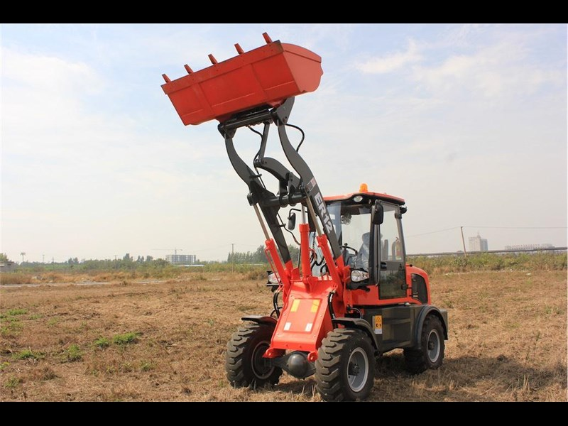everun er12 wheel loader with 2 buckets and forks 349636 045