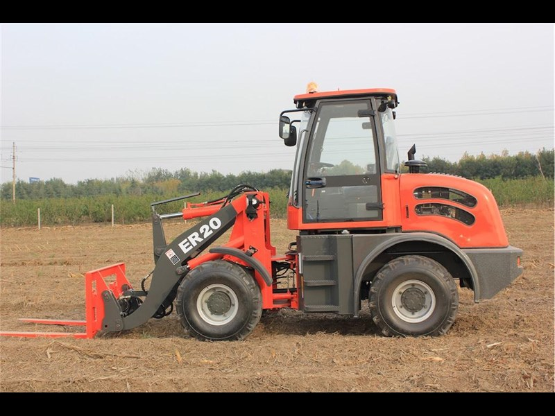 everun er20 wheel loader with 2 buckets and forks 349639 021