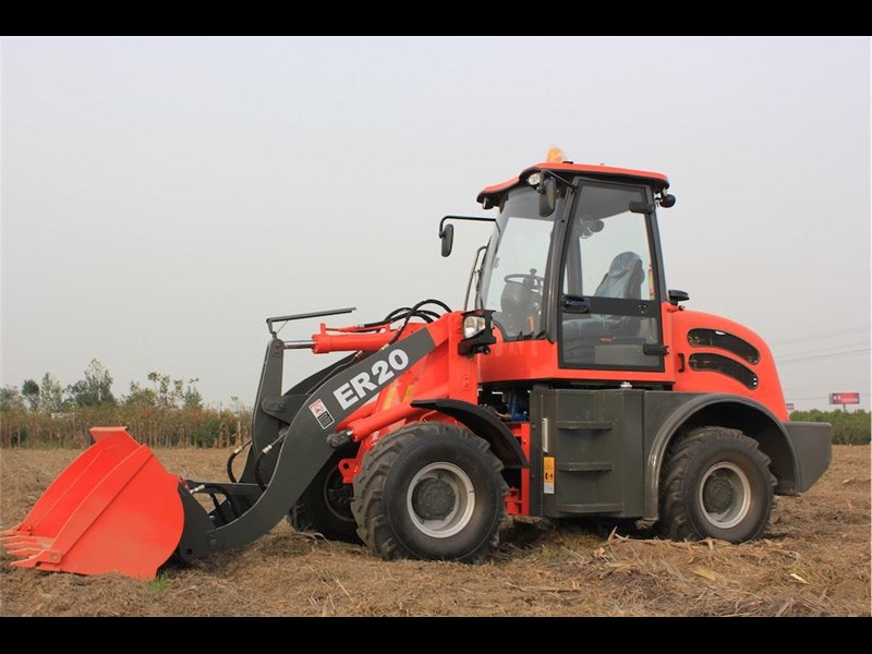 everun er20 wheel loader with 2 buckets and forks 349639 027