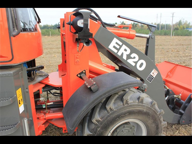 everun er20 wheel loader with 2 buckets and forks 349639 033