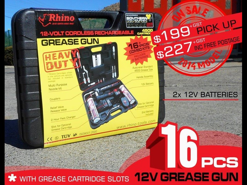 rhino 12v rechargeable grease gun - [tfggun] gg06 [free delivery] 242947 003
