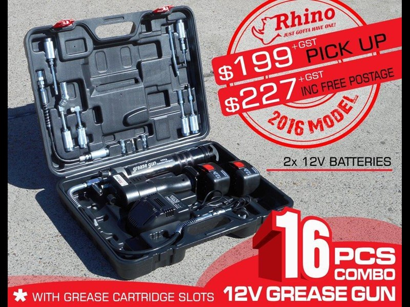 rhino rechargeable - 12v grease gun [tfggun] - [gg06] [free delivery] 242952 001
