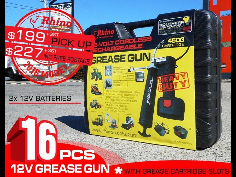 rhino rechargeable - 12v grease gun [tfggun] - [gg06] [free delivery] 242952 002