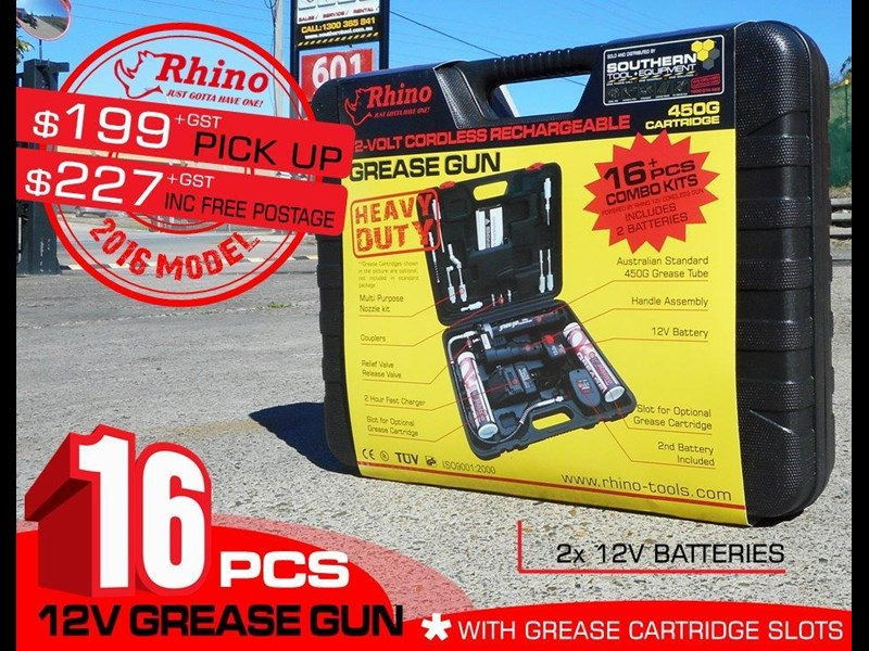 rhino rechargeable - 12v grease gun [tfggun]- [gg06] [pick up] 242946 005