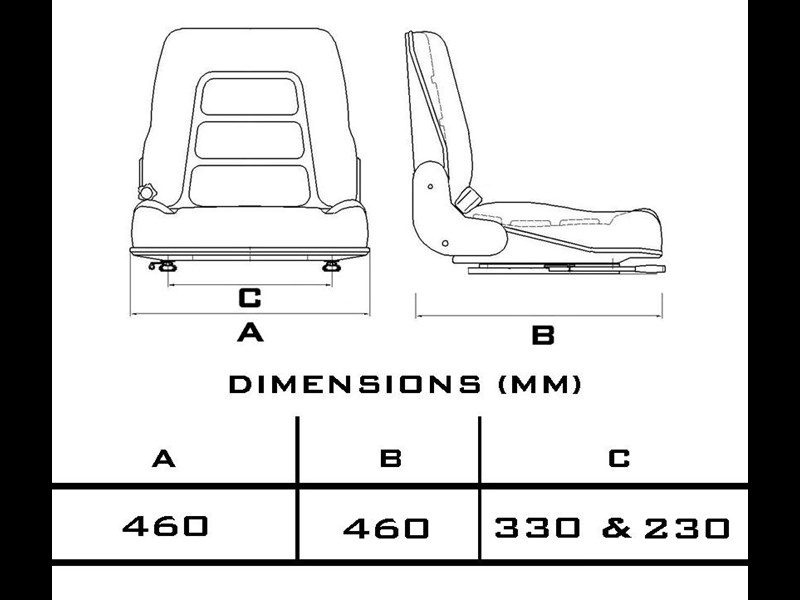 custom universal suspension seat 355090 005