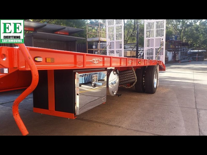 everything earthmoving 11t atm single axle tag trailer with beaver tail 357093 019