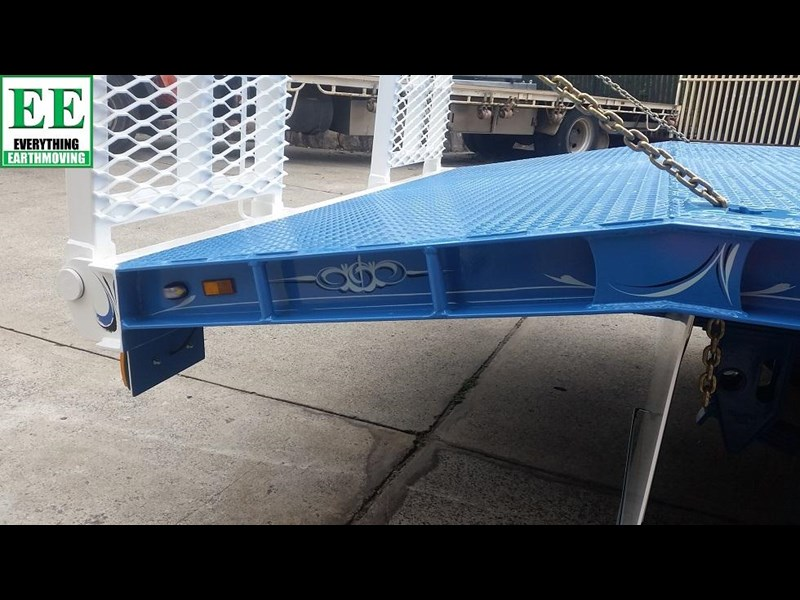 everything earthmoving 11t atm single axle tag trailer with beaver tail 357093 041