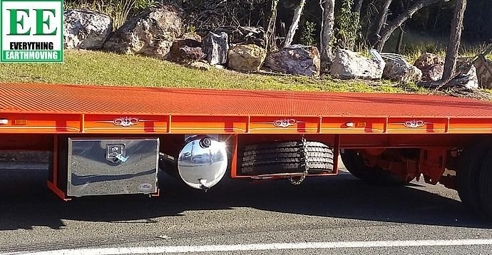 everything earthmoving 11t atm single axle tag trailer with beaver tail 357093 049