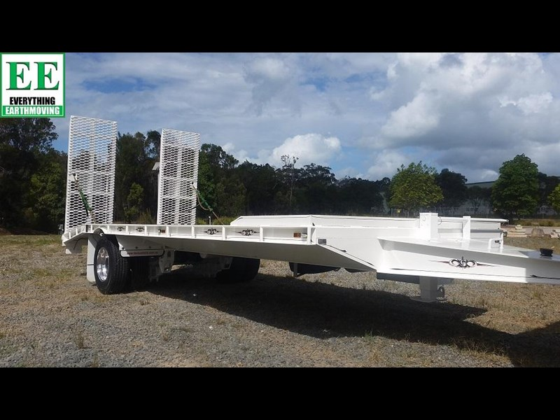everything earthmoving 11t atm single axle tag trailer with beaver tail 357093 061