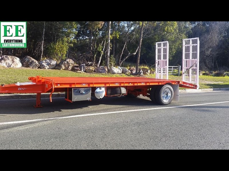 everything earthmoving 11t atm single axle tag trailer with beaver tail 357093 007