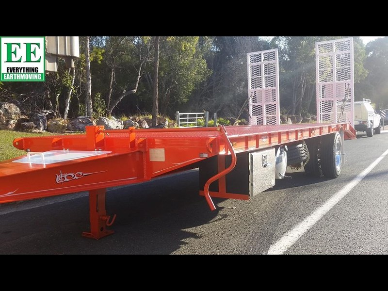 everything earthmoving 11t atm single axle tag trailer with beaver tail 357093 009
