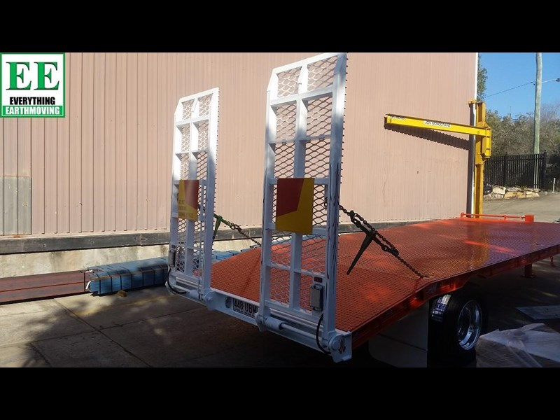 everything earthmoving 11t atm single axle tag trailer with beaver tail 357093 015