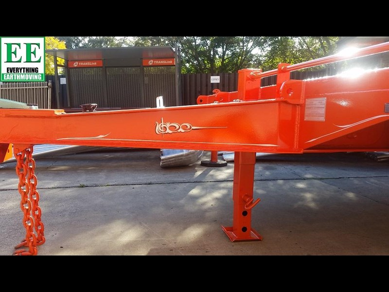 everything earthmoving 11t atm single axle tag trailer with beaver tail 357093 017