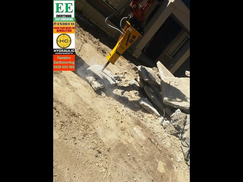 indeco hp200 whisper rock breaker from everything earthmoving 356955 019