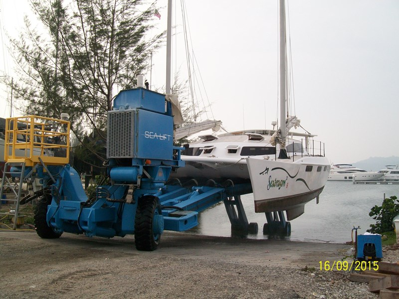 simpson 40 ft junk rig catamaran 360183 015