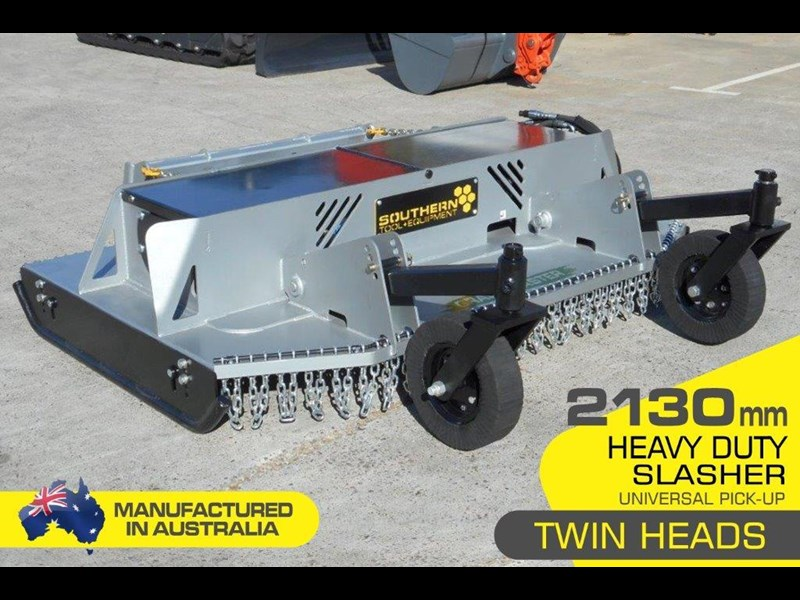 southern tool [7' feet] slasher twin head brush cutter attachment - 2130mm cut width 274686 003