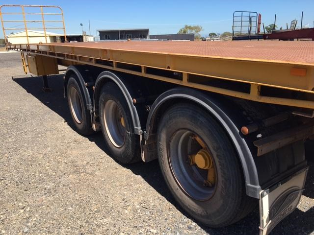 southern cross tri- axle 41ft flat top trailer 361521 005