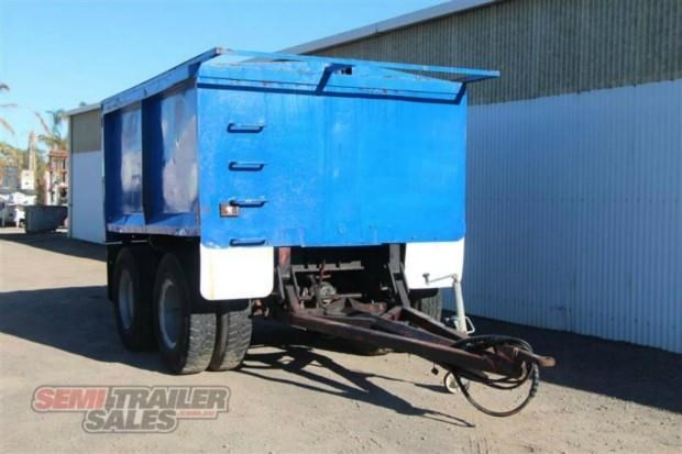 custom semi pig tipping trailer 362308 002