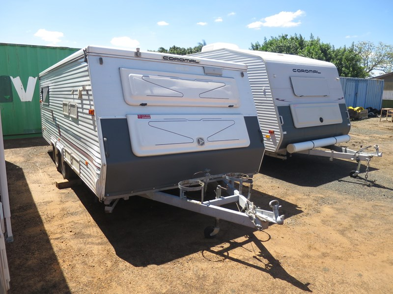coromal seka 535 tandem axle pop top caravan 365010 001