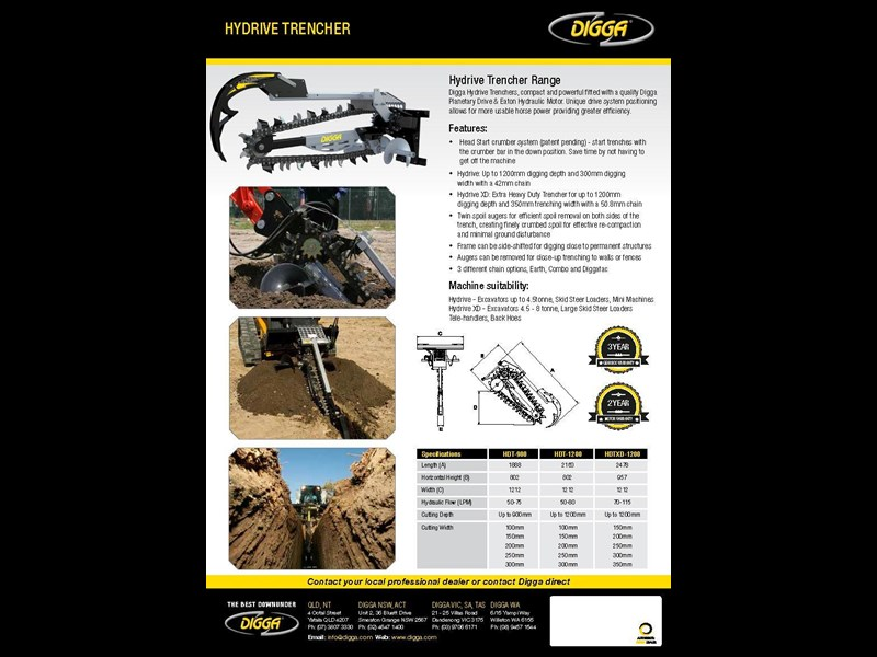 digga xd 1200 hydrive trencher 367873 005