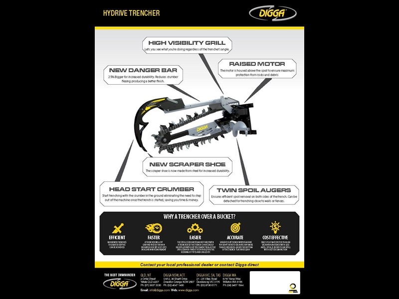 digga 900 hydrive trencher 367875 003