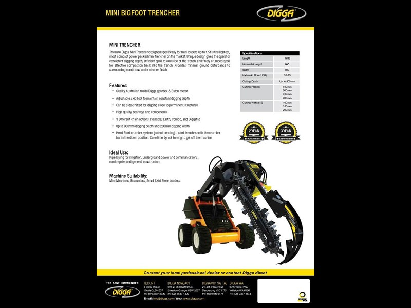 digga mini bigfoot trencher 367876 005