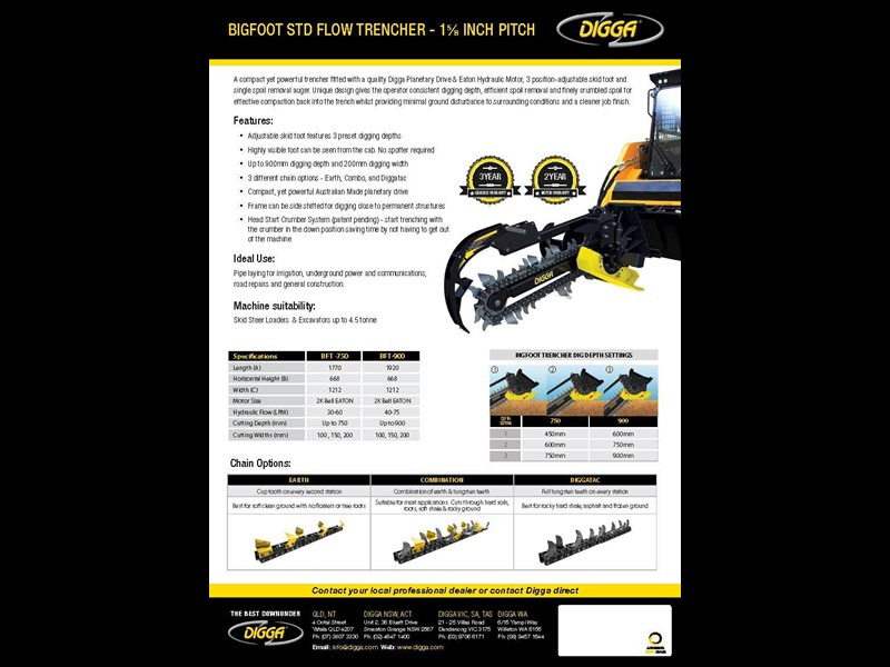 digga 900 bigfoot trencher 367878 005
