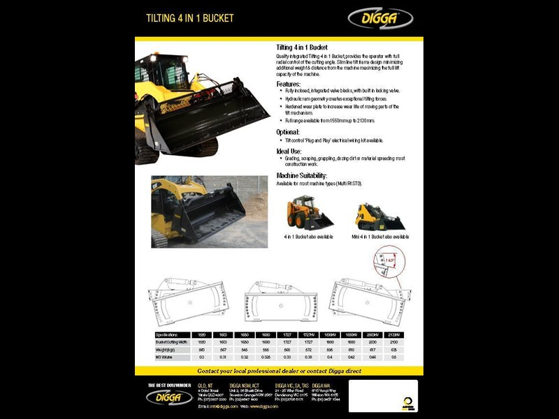 digga tilting 4 in 1 bucket 367820 003