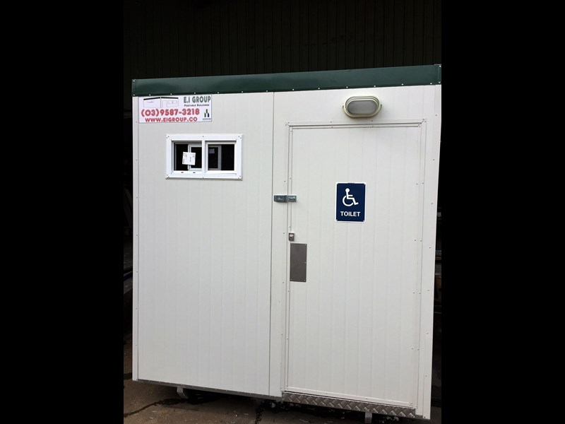 e i group portables compliant 2.4m x 2.4m disabled toilet. 144406 003