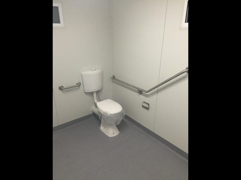 e i group portables compliant 3m x 2.4m disabled toilet/shower 368088 003