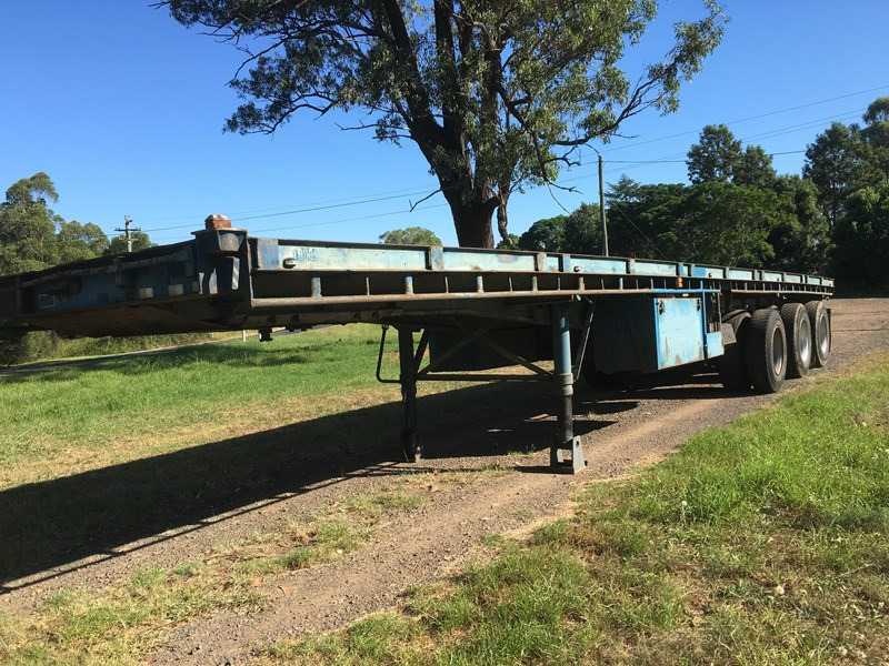 freighter 40' tri-axle flat top trailer 373918 001