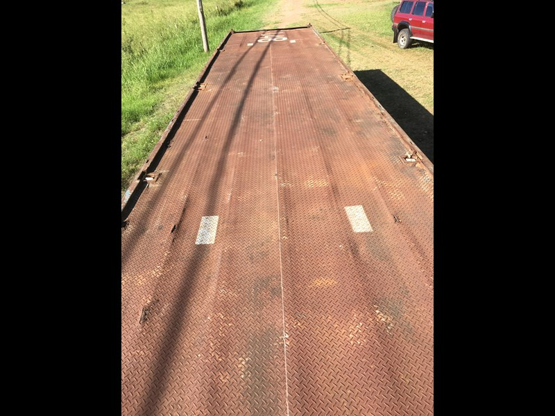 freighter 40' tri-axle flat top trailer 373918 009