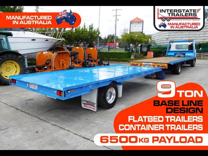 interstate trailers 9 ton heavy duty container trailers / flatbed trailers - suit 20ft container [attttrail] 374130 001