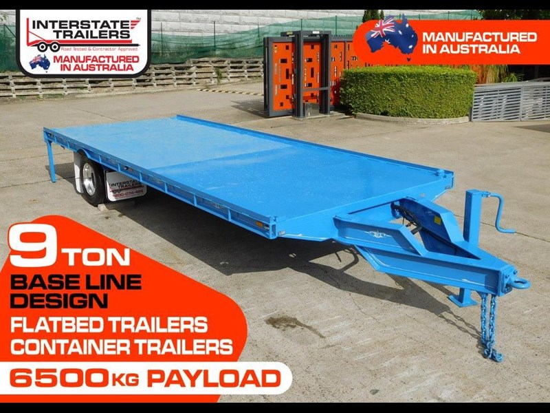 interstate trailers 9 ton heavy duty container trailers / flatbed trailers - suit 20ft container [attttrail] 374130 003
