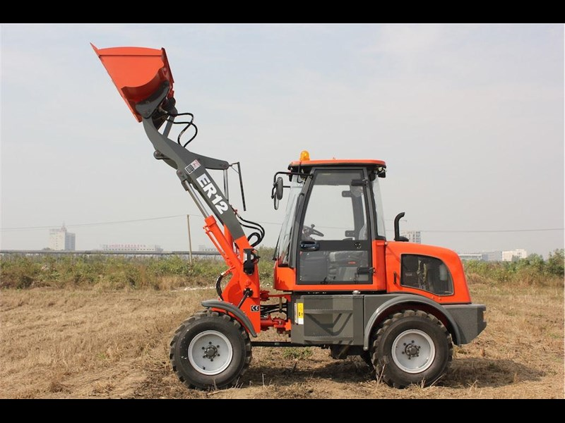 everun everun er12 wheel loader with 2 buckets and forks 374568 031