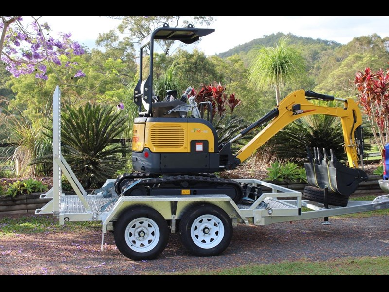 carter mini excavator ct16 yanmar powered with plan trailer 376694 001