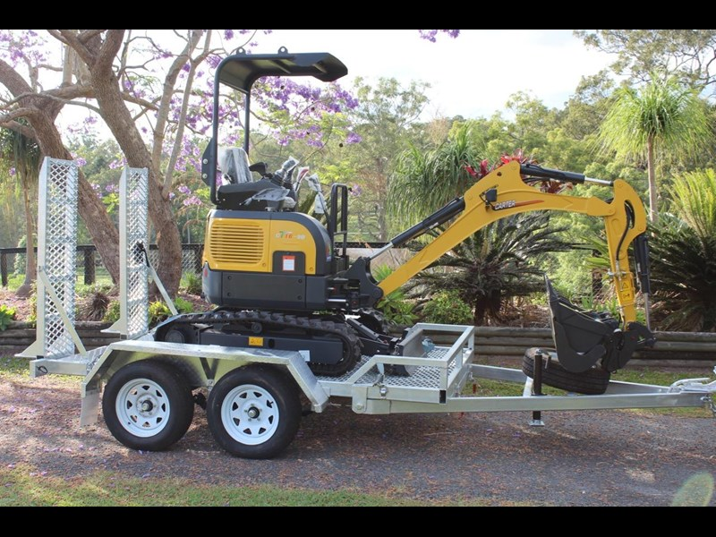 carter mini excavator ct16 yanmar powered with plan trailer 376694 003