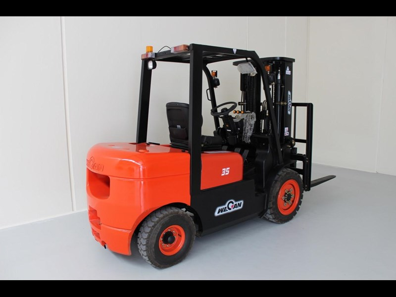 wecan forklift with 3 stage mast container 378369 007