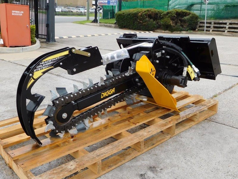 digga bigfoot 900 hydraulic trencher - 900mm dig depth suit skid steer loaders.[atttren] 384563 009
