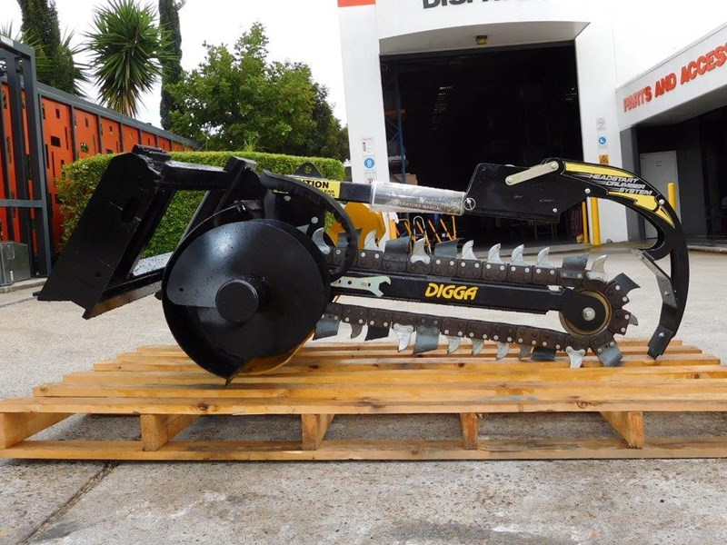 digga bigfoot 900 hydraulic trencher - 900mm dig depth suit skid steer loaders.[atttren] 384563 013