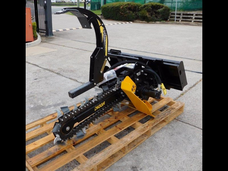 digga bigfoot 900 hydraulic trencher - 900mm dig depth suit skid steer loaders.[atttren] 384563 019
